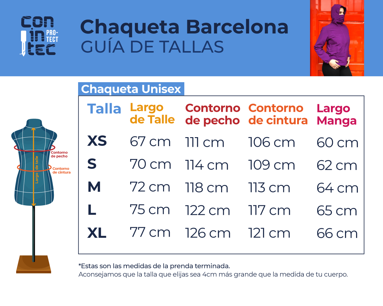Guía de Tallas – Barcelona