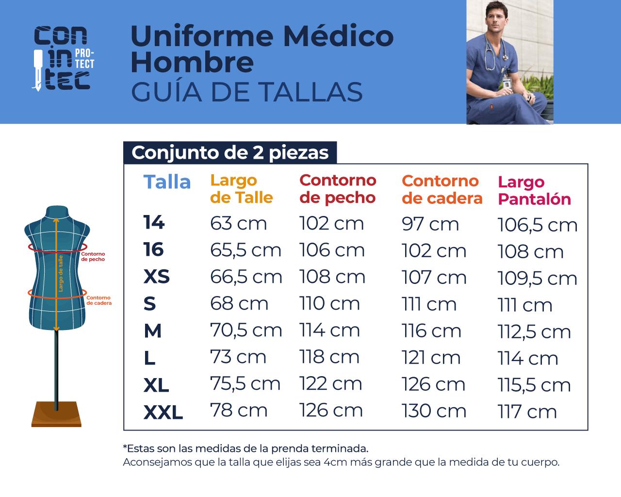 Guía de Tallas – Medico Hombre
